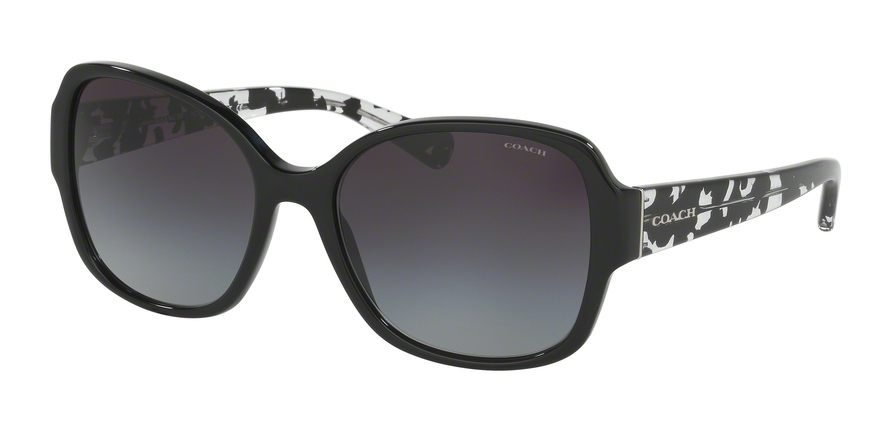 COACH HC8166F ASIAN FIT style-color 534811 Black / Black Crystal Mosaic