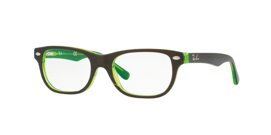 RAY-BAN RY1555 style-color 3665 Top Brown ON Green Fluo