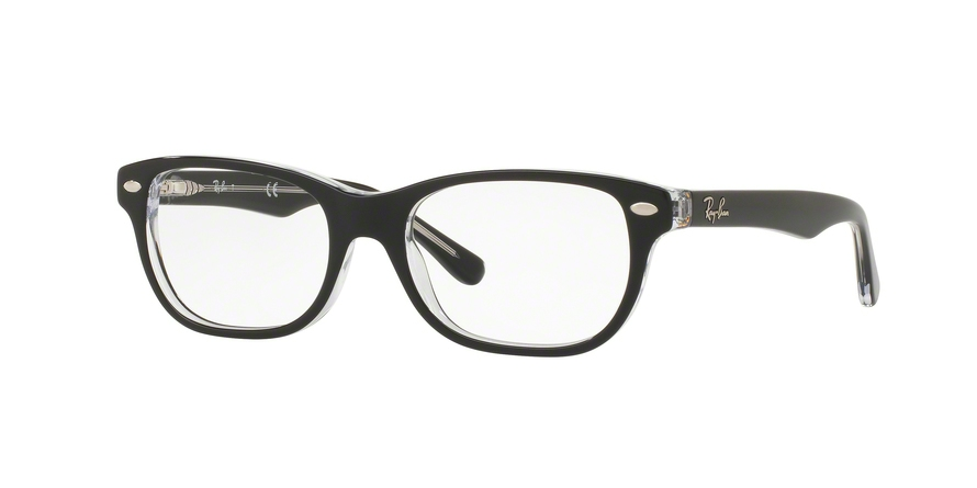 RAY-BAN RY1555 style-color 3529 Top Black ON Transparent