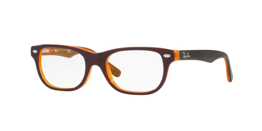 RAY-BAN RY1555 style-color 3674 Top Brown ON Orange Fluo