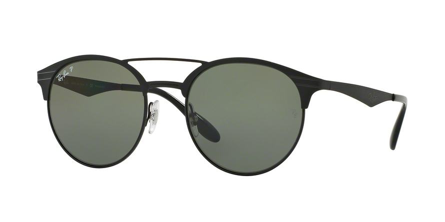 RAY-BAN RB3545 style-color 186/9A Shiny Black / Top Matte Black