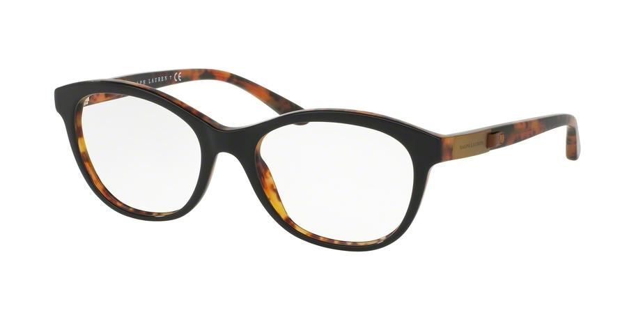 RALPH LAUREN RL6157Q style-color 5260 Top Black / Havana JL