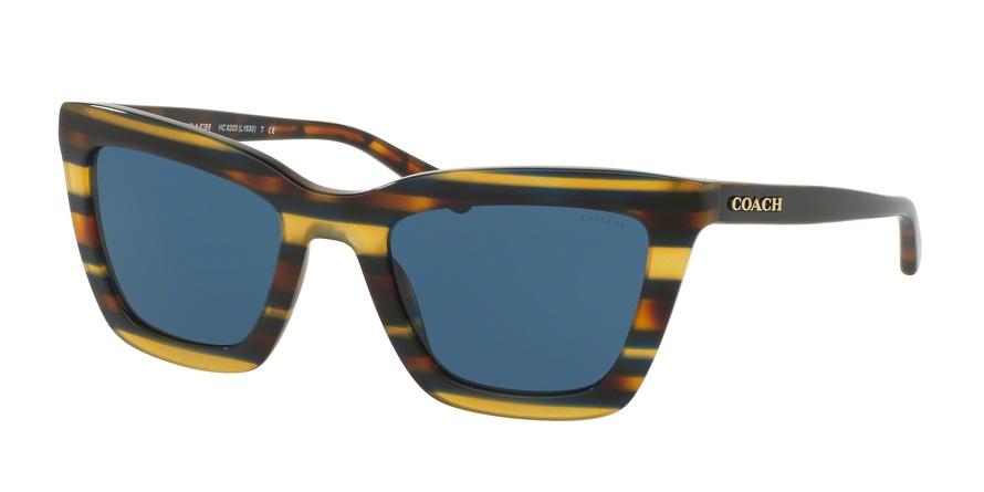 COACH HC8203 L1630 style-color 544180 Blue Honey Gltr Varsity Stripe