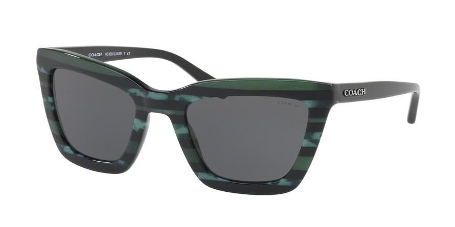COACH HC8203 L1630 style-color 547687 Emerald Glitter Varsity Stripe