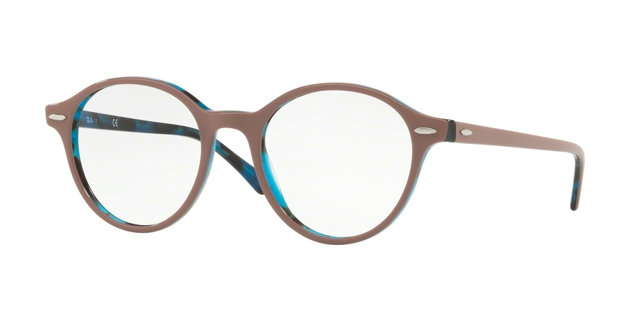 RAY-BAN RX7118 DEAN style-color 5715 Top Light Brown ON Havana Blue