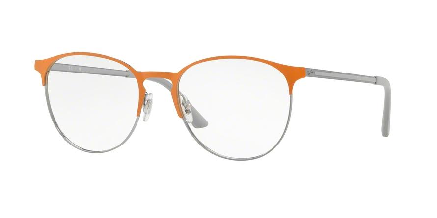 RAY-BAN RX6375 style-color 2949 Gunmetal Top ON Orange