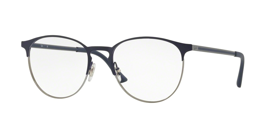 RAY-BAN RX6375 style-color 2981 Gunmetal ON Top Blue