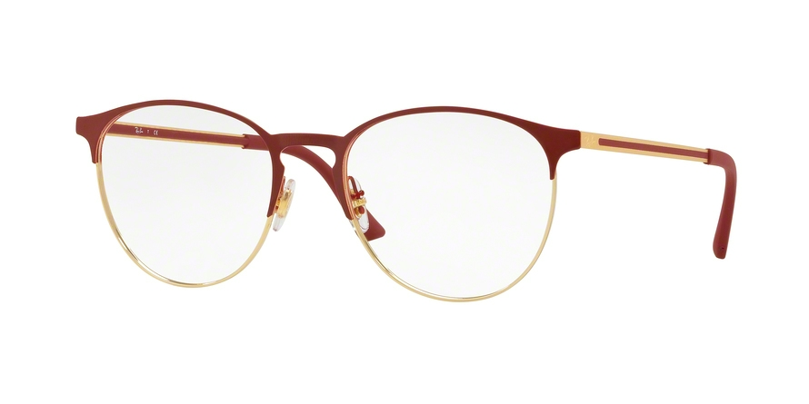 RAY-BAN RX6375 style-color 2982 Gold Top ON Bordeaux