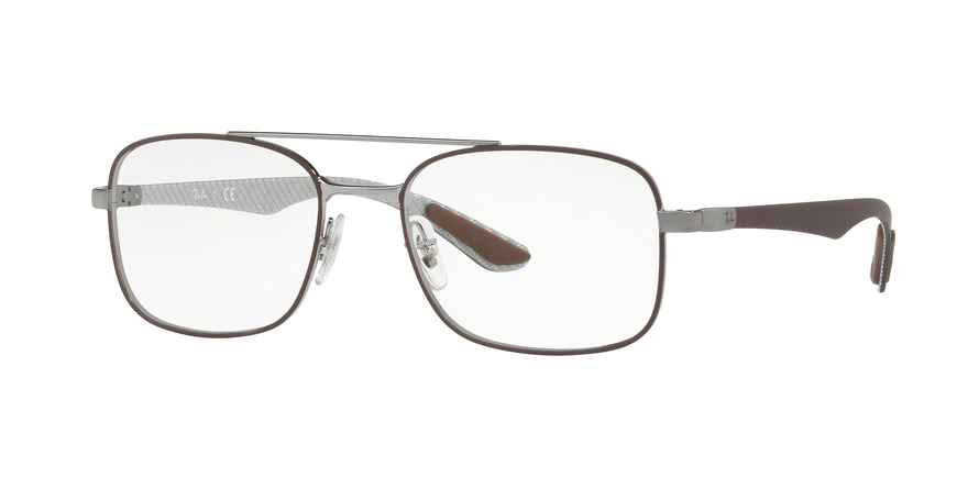 RAY-BAN RX8417 style-color 2952 Gunmetal ON Matte Brown