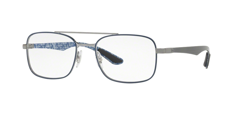 RAY-BAN RX8417 style-color 2953 Gunmetal Top Matte Blue