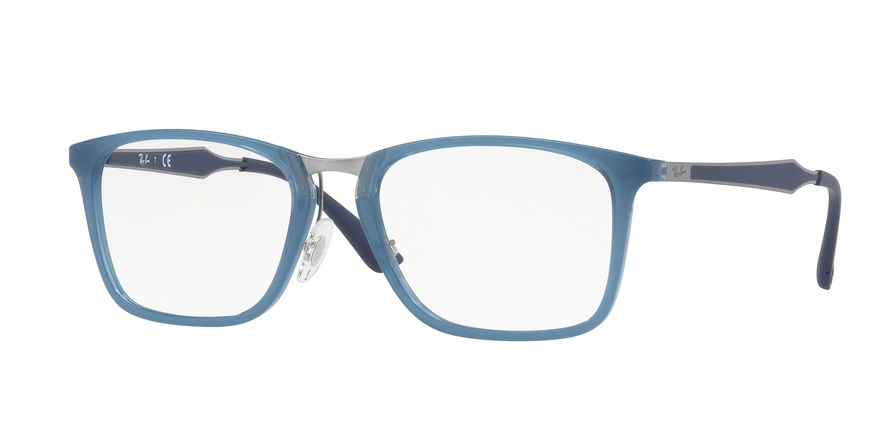 RAY-BAN RX7131 style-color 8019 Trasparent Light Blue