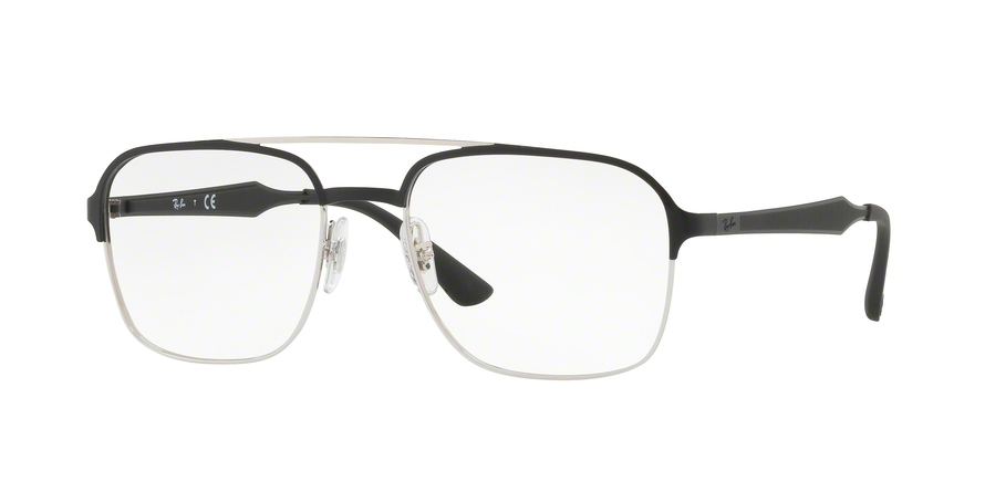 RAY-BAN RX6404 style-color 2861 Silver Top Black