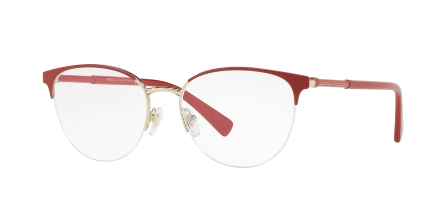 VERSACE VE1247 style-color 1408 Red / Pale Gold