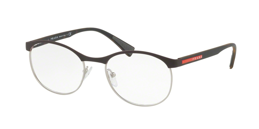 PRADA LINEA ROSSA PS 50IV style-color VY21O1 Brown Rubber / Gunmetal