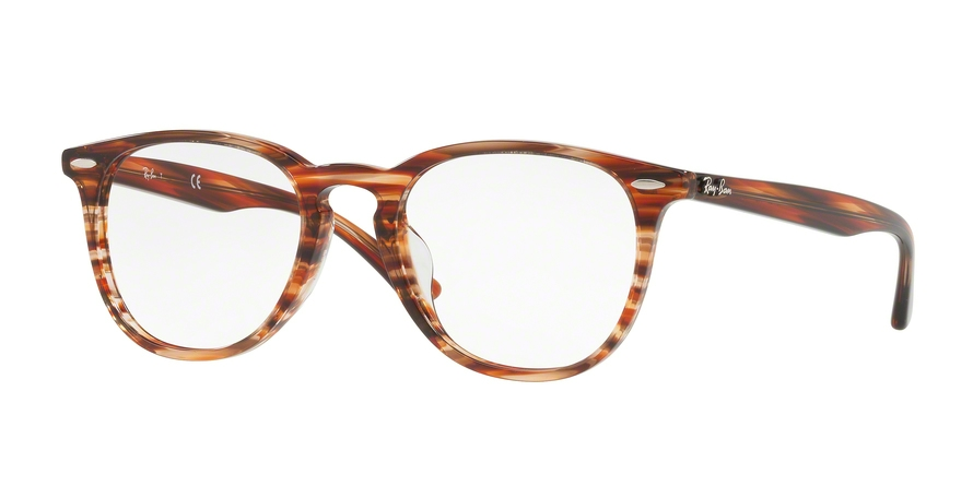 RAY-BAN RX7159F ASIAN FIT style-color 5751 Brown Beige Stripped