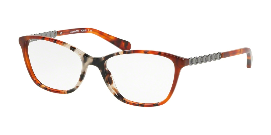 COACH HC6121F ASIAN FIT style-color 5519 Amber Grey Multi Tort