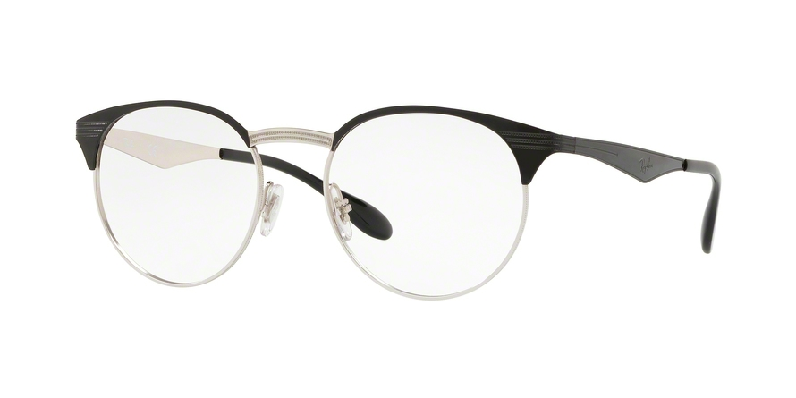 RAY-BAN RX6406 style-color 2861 Silver ON Top Black