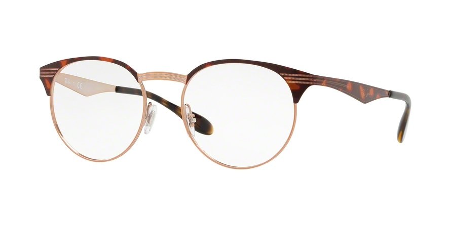 RAY-BAN RX6406 style-color 2971 Copper ON Top Havana