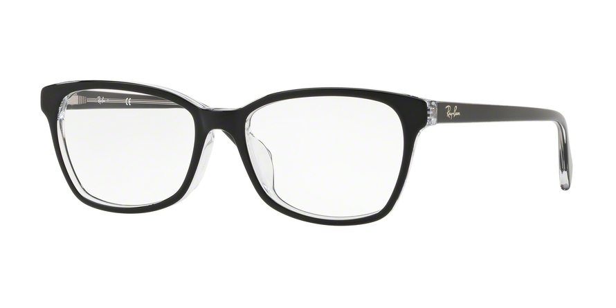 RAY-BAN RX5362F ASIAN FIT style-color 2034 Top Black ON Transparent