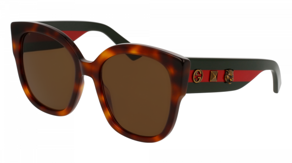 GUCCI GG0059S style-color Havana/GREEN 002 / BROWN Lens