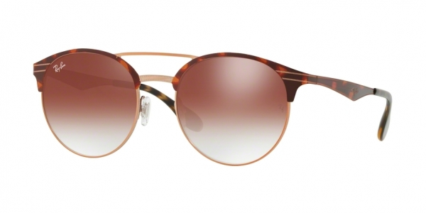 RAY-BAN RB3545 style-color 9074V0 Copper ON Top Havana