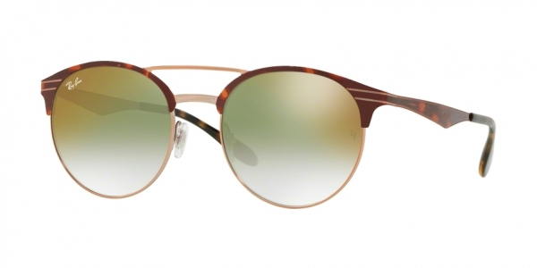 RAY-BAN RB3545 style-color 9074W0 Copper ON Top Havana