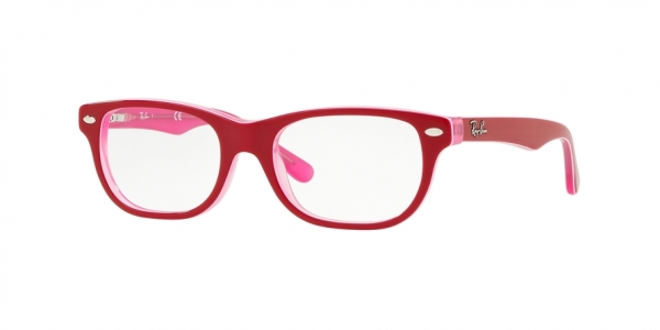RAY-BAN RY1555 style-color 3761 Trasparent Pink ON Top Bordeau