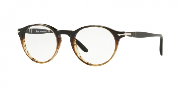 PERSOL PO3092V style-color 9052 Grad Black Striped Brown