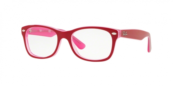 RAY-BAN RY1528 style-color 3761 Trasp Pink ON Top Bordeaux