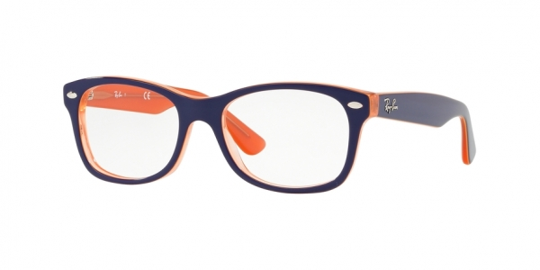RAY-BAN RY1528 style-color 3762 Orange Trasp ON Top Blue