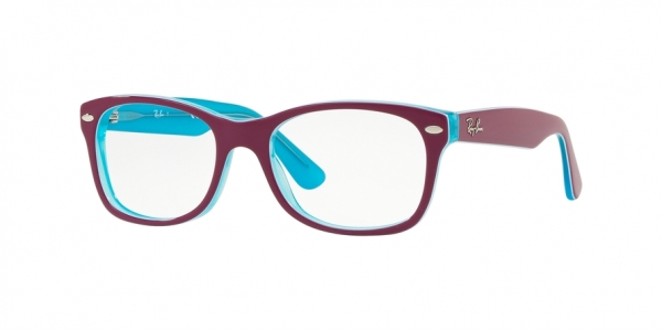 RAY-BAN RY1528 style-color 3763 Blue Trasp ON Top Fuxia