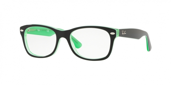 RAY-BAN RY1528 style-color 3764 Green Trasp ON Top Black