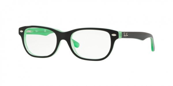 RAY-BAN RY1555 style-color 3764 Green Trasp ON Top Black