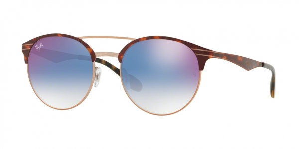 RAY-BAN RB3545 style-color 9074X0 Copper ON Top Havana
