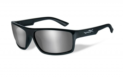 WILEYX WX PEAK style-color Gloss Black / GREY SILVER FLASH LENS