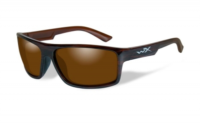 WILEYX WX PEAK style-color Gloss Layered Tortoise / POL AMBER LENS