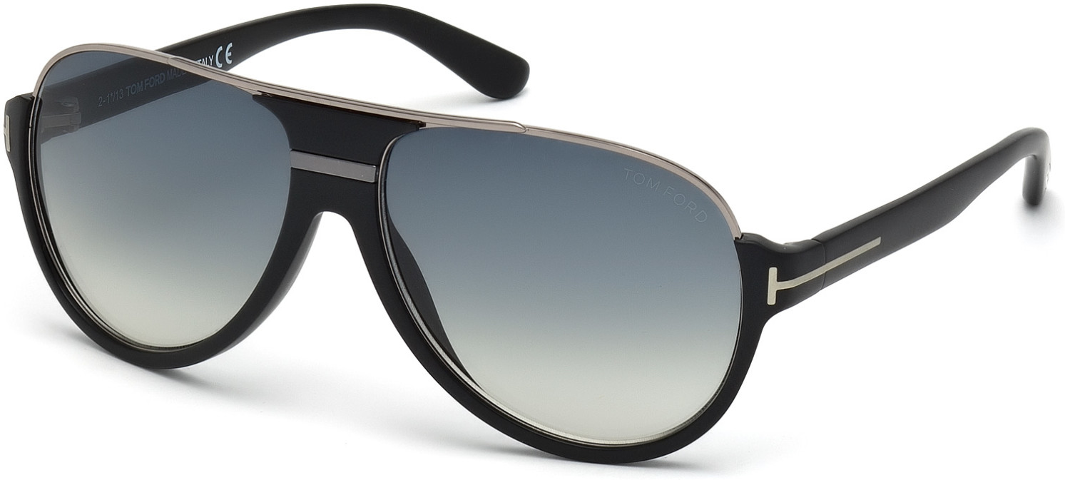 TOM FORD DIMITRY FT0334 style-color 02W   - matte black / gradient blue