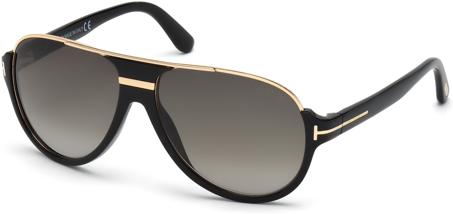 TOM FORD DIMITRY FT0334 style-color 01P   - shiny black  / gradient green
