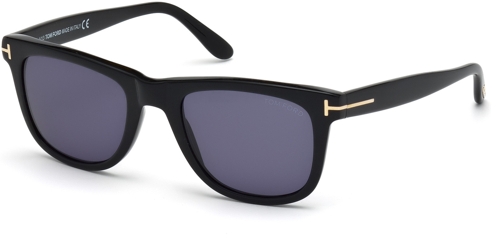 TOM FORD LEO FT0336 style-color 01V   - shiny black  / blue
