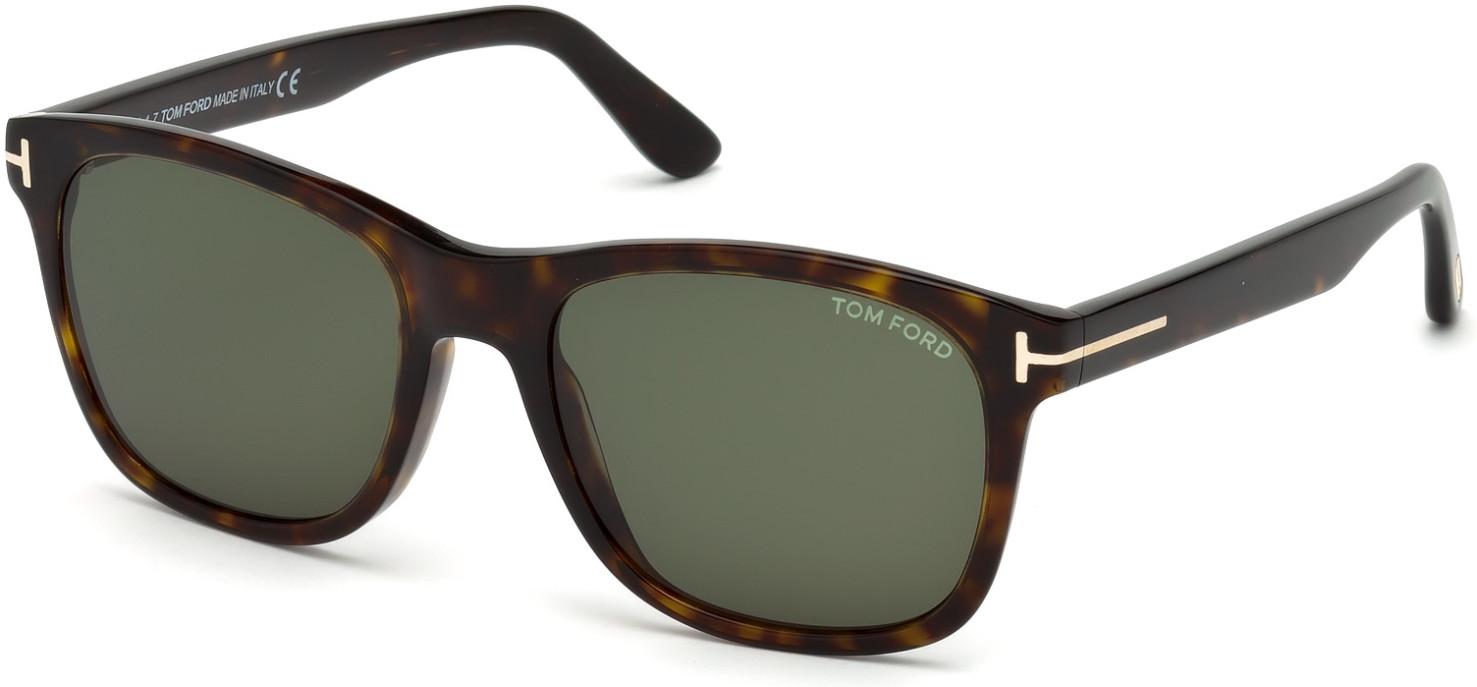 TOM FORD FT0595 ERIC-02 3907 style-color 52N Dark Havana / Green