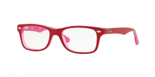 RAY-BAN RY1531 style-color 3761 Pink Trasparent ON Top Bordeau