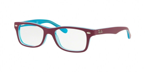 RAY-BAN RY1531 style-color 3763 Azure Trasparent Top ON Fuxia