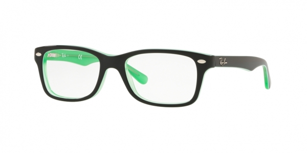 RAY-BAN RY1531 style-color 3764 Green Trasparent ON Top Black
