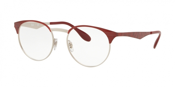 RAY-BAN RX6406 style-color 3024 Silver ON Top Red Move