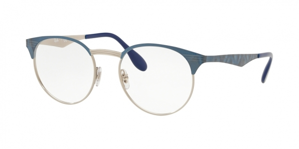 RAY-BAN RX6406 style-color 3025 Silver ON Top Blue Move