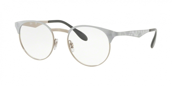 RAY-BAN RX6406 style-color 3026 Silver ON Top White Move