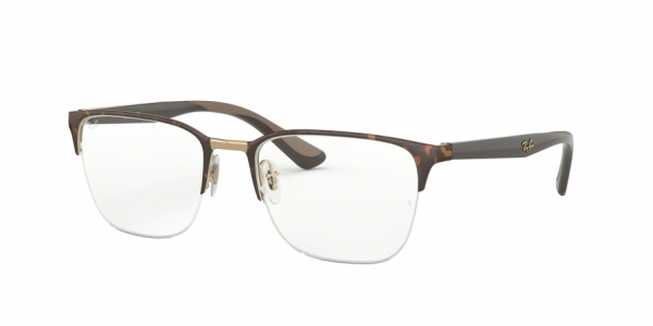 RAY-BAN RX6428 style-color 3001 Pink Gold ON Top Havana