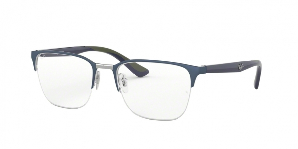 RAY-BAN RX6428 style-color 3006 Gunmetal ON Top Matte Blue