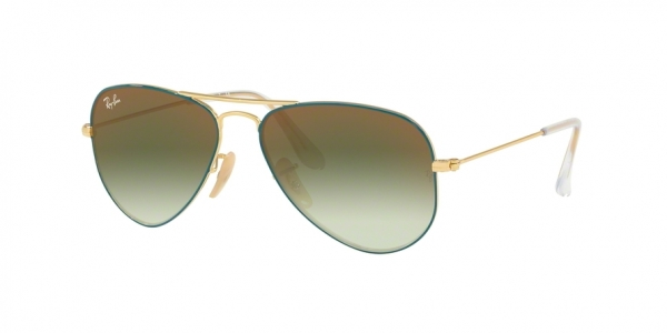 RAY-BAN RJ9506S JUNIOR AVIATOR style-color 275/W0 Gold ON Top Turquoise