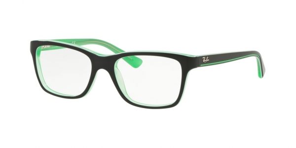 RAY-BAN RY1536 style-color 3764 Trasp Green ON Top Black